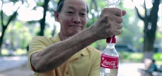Recyclage de bouteilles de Coca