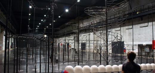 Expo temporaire dans un espace de la base sous-marine