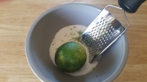 Zesting the lime