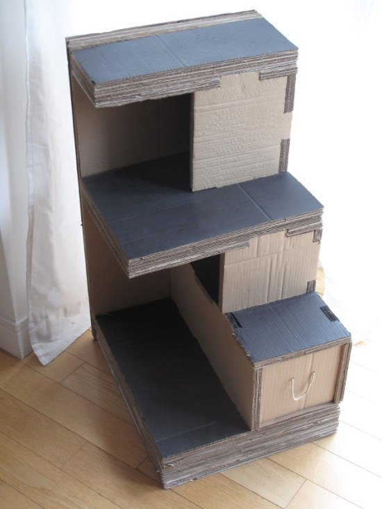 Cardboard bedside table
