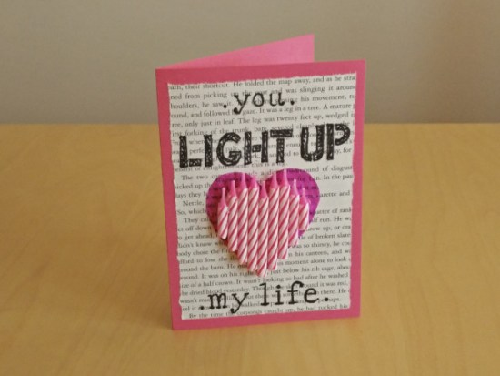Valentines day paper crafts: You light up my life