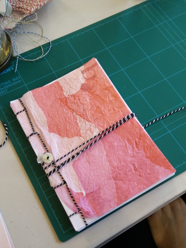 Fused plastic bag notebook