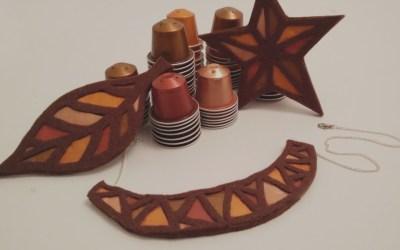 Copper jewellery made from nespresso capsules