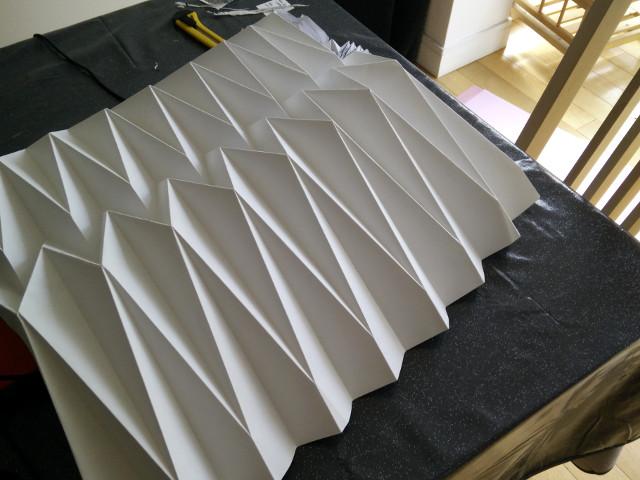 Folded paper base