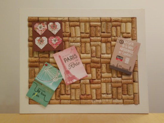 Recycled cork notice board