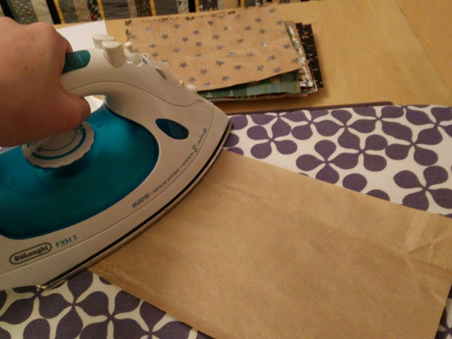 Use an iron to flatten any wrinkly or rolled up pages