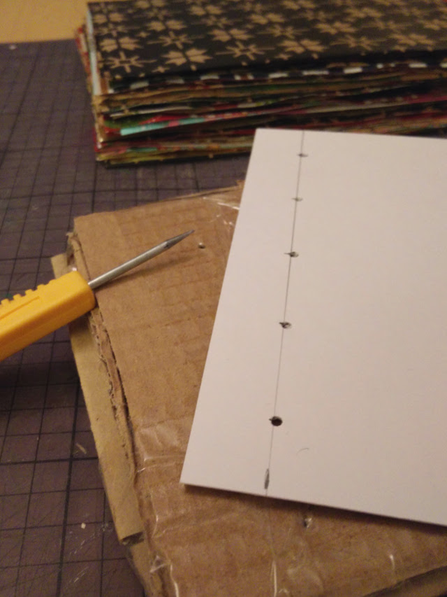 Make a template out of card to align the holes