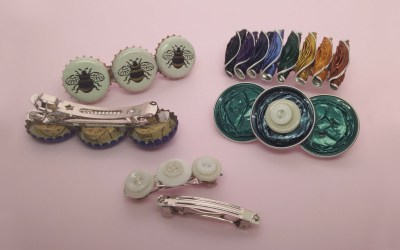 Recycled hair clips
