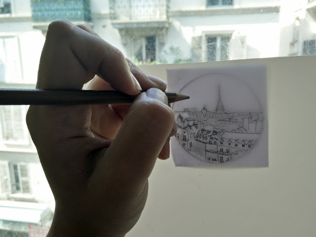 Tracing my design on a window