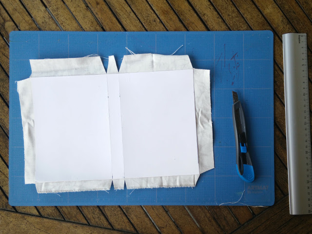 Covering the card with fabric