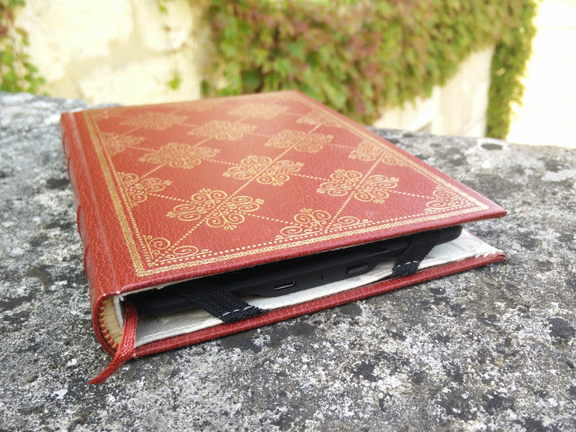 Handmade Kindle case from a hardback book
