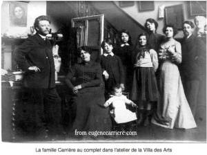 Eugène Carrière's and Family in his Villa des Arts atelier
