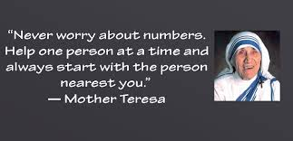 Mother Teresa quote help others