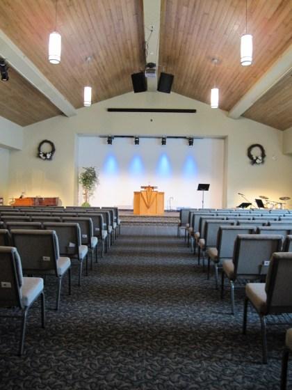 Contemporary church chapel