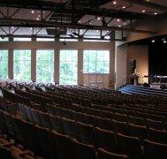 church auditorium with natural light
