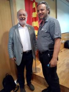 Avec M. Josep-Maria Terricabras, député européen Catalan.