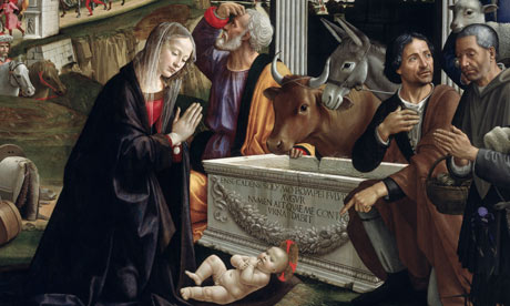 A detail Adoration of the Shepherds by Domenico Ghirlandaio (as you no doubt already knew).