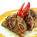 Would you like a Bib with your Pierogi?  Lobster Pierogi!