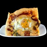 Focaccia with Bacon, Cheddar and 'Eggs in Wells'