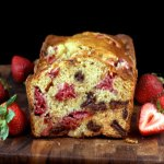 Chocolate Chunk Strawberry Malted Yogurt Loaf for Twelve Loaves