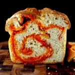 Crusty Sriracha Cheddar – Pepper Jack Swirl Bread for BBD #53