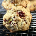 White Chocolate Cranberry Salted Pistachio Drop Cookies <del>and a Giveaway!</del>