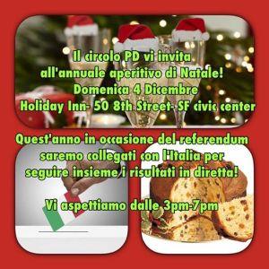 – Maratona referendum e Aperitivo natalizio – 4 Dicembre 3 p.m. –