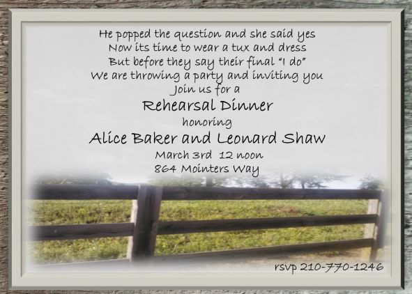Fullsize Of Rehearsal Dinner Invitations