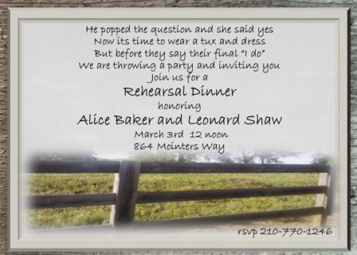 Medium Of Rehearsal Dinner Invitations