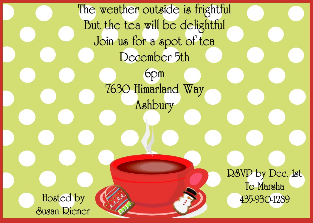 Splendid Holiday Tea Party Invitations Tea Party Invitations 2018 Tea Party Invitations Diy Tea Party Invitations Pinterest invitations Tea Party Invitations