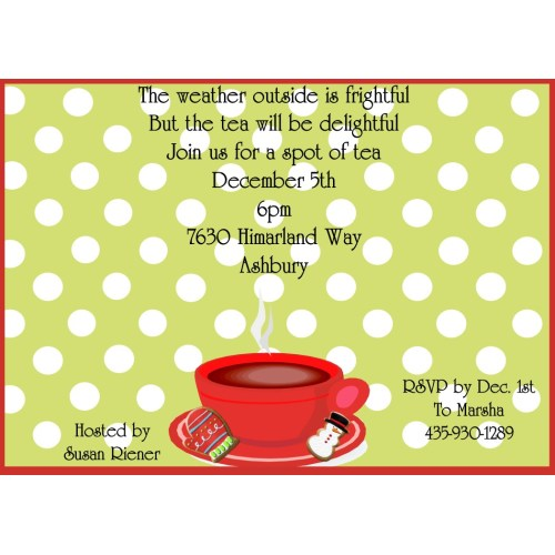 Medium Crop Of Tea Party Invitations