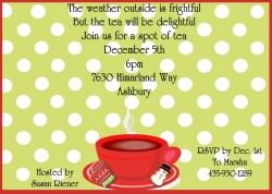 Small Of Tea Party Invitations