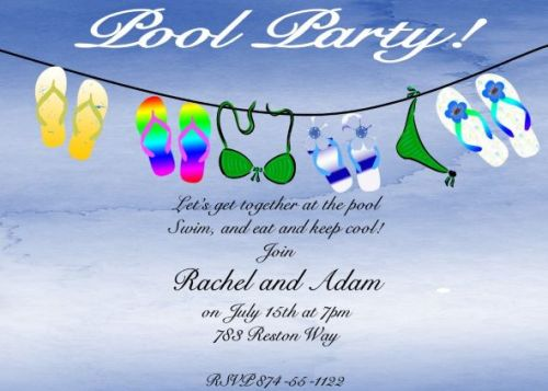 Medium Of Pool Party Invitations