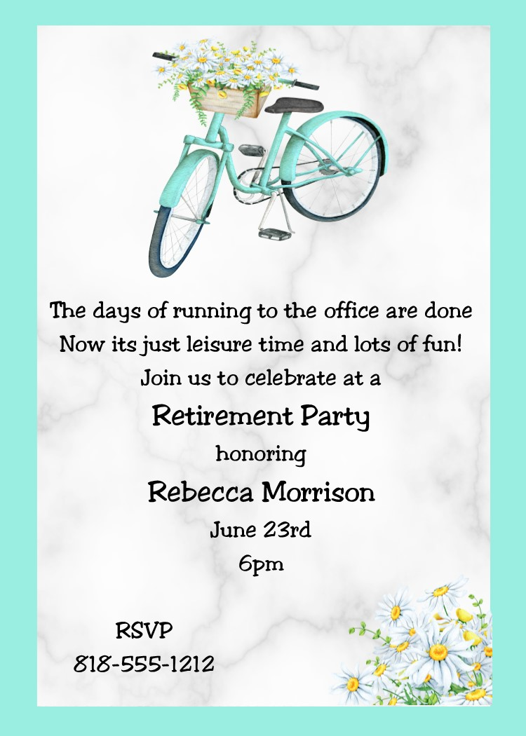 Rummy Country Bike Retirement Party Invitations Retirement Party Invitations Custom Designed New Summer 2018 Retirement Party Invitations Amazon Retirement Party Invitations Teacher invitations Retirement Party Invitations