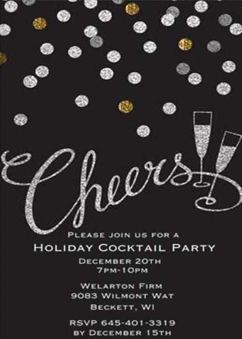 Sweet G Cocktail Party Invitations Large Selection 2018 Holiday Party Invitations Digital Free Holiday Party Invitations Printable Handlettered Holiday Party Chalkboard Cocktail Partyinvitations Silve