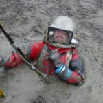 diver in sludge