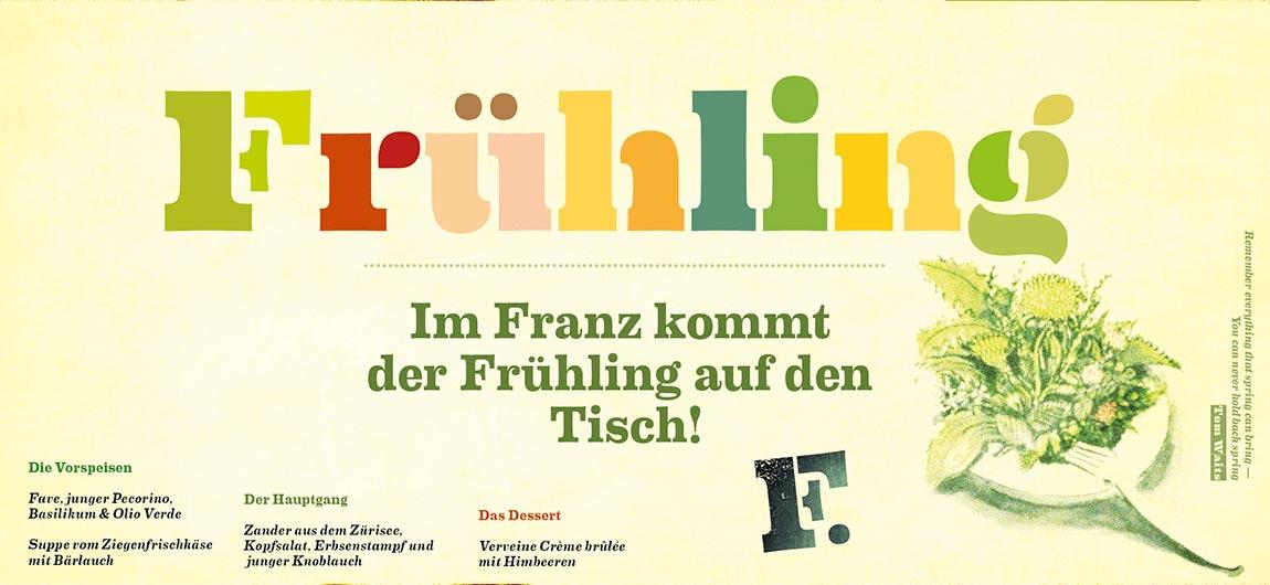 Wirtschaft im Franz Flyer Entwurf Rückseite