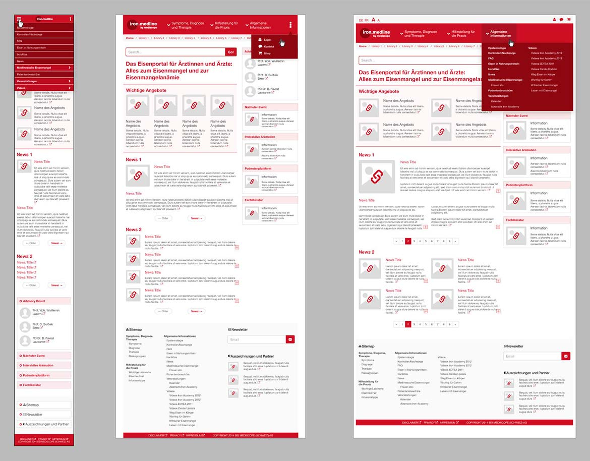 iron.medline Wireframes