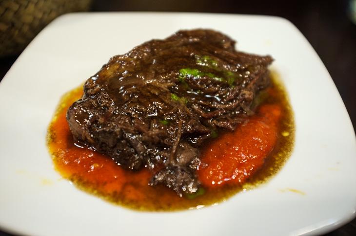 Passagem Gastronômica - Bochecha de Vitela  - Pintxos Bar em San Sebastian