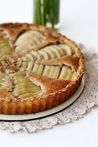 Pear, Vanilla and Almond Frangipane Tart