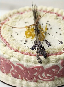 Lavender Chiffon Cake with Whipped Lemon Curd Frosting