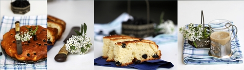 Blueberry Lime Buttermilk Pound Cake