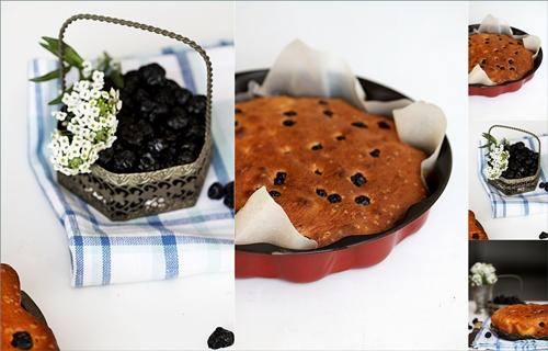 Blueberry Lime Buttermilk Pound Cake