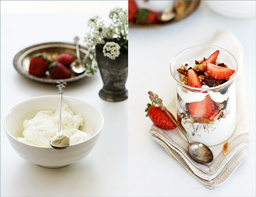 Chocolate Granola & Strawberry with Quark Parfait