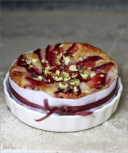 Plum Almond Ginger Summer Fruit Cake