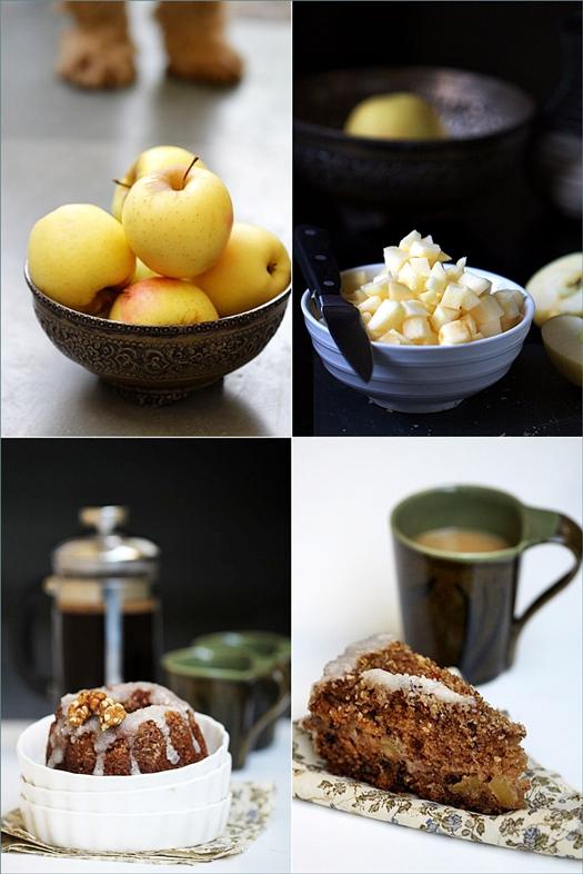 Spiced Apple Walnut Coffee Cake