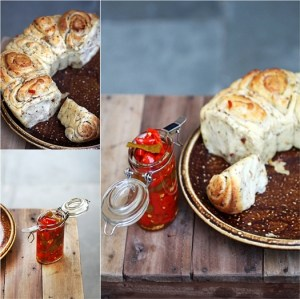 Savoury Chili Cheese & Garlic Pull-Apart Bread