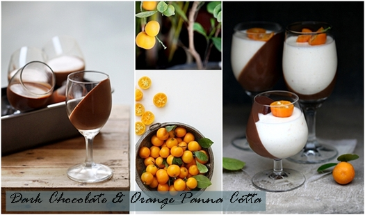 Dark Chocolate & Orange Panna Cotta