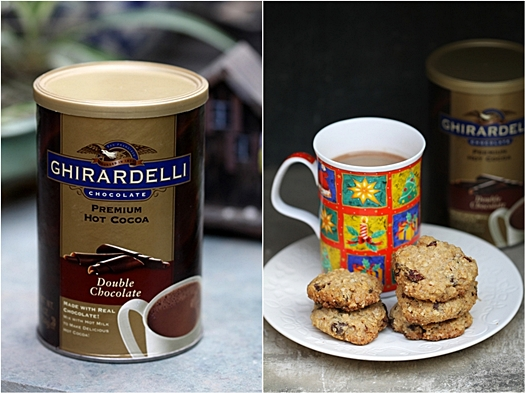 Ghirardelli Hot Cocoa & WholeWheat Oat Choc chip Cookies