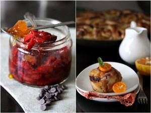 Sweet Orange, Roasted Strawberry & Chocolate Buttermilk Rolls
